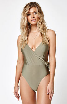 Sunspell Wrap One Piece Swimsuit