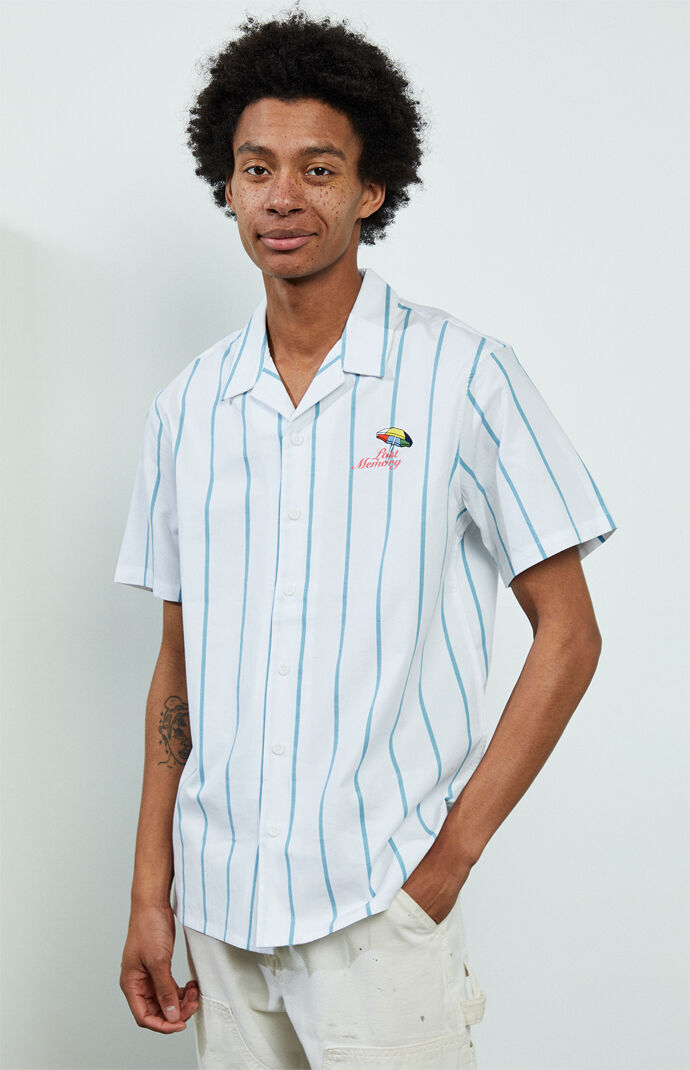 Blake Striped Short Sleeve Button Up Shirt