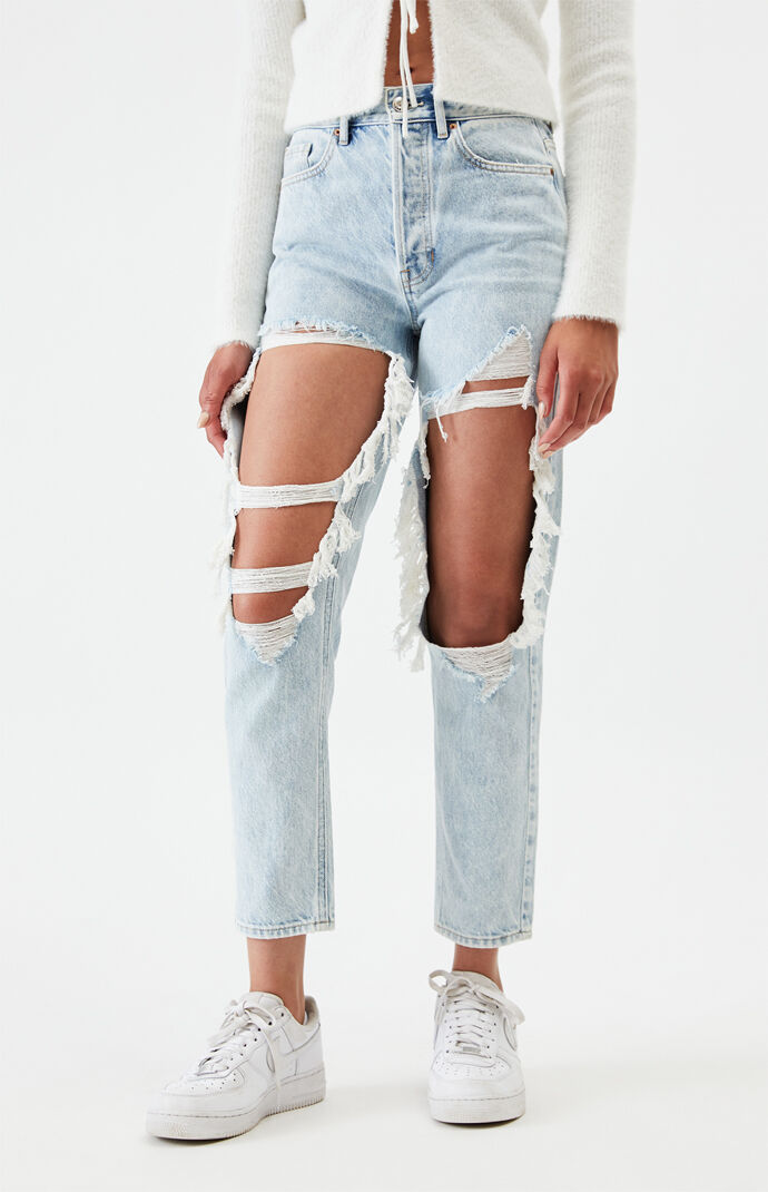 Light Ultra High Waisted Slim Fit Jeans