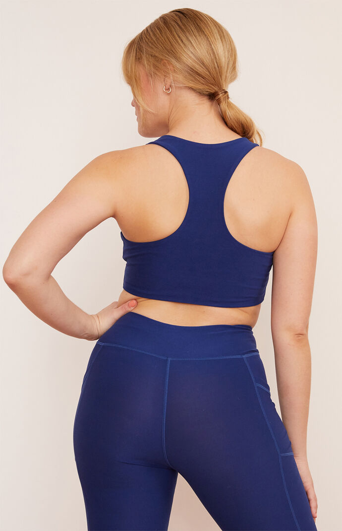 Eco Indigo Yoga Sports Bra