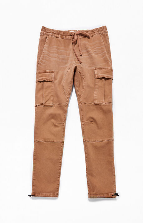 Workwear Brown Slim Fit Cargo Pants