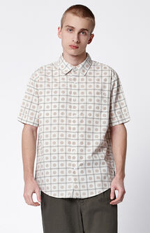 Branson Dotted Short Sleeve Button Up Shirt