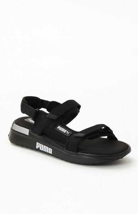 Black Future Rider Sandals