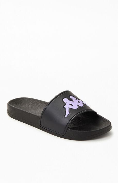 Women's Black Authentic Adam 4 Slide Sandals