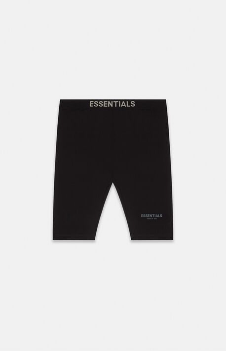Essentials Black Biker Shorts