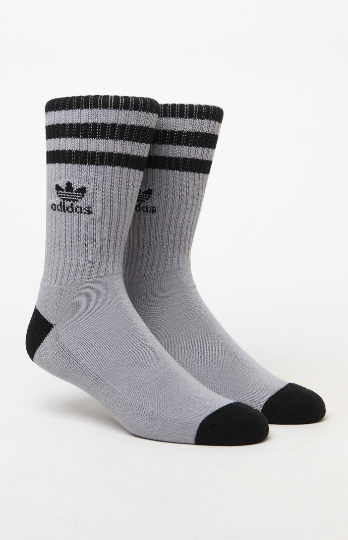 adidas Mens Roller Crew Socks - Grey/black 7243298