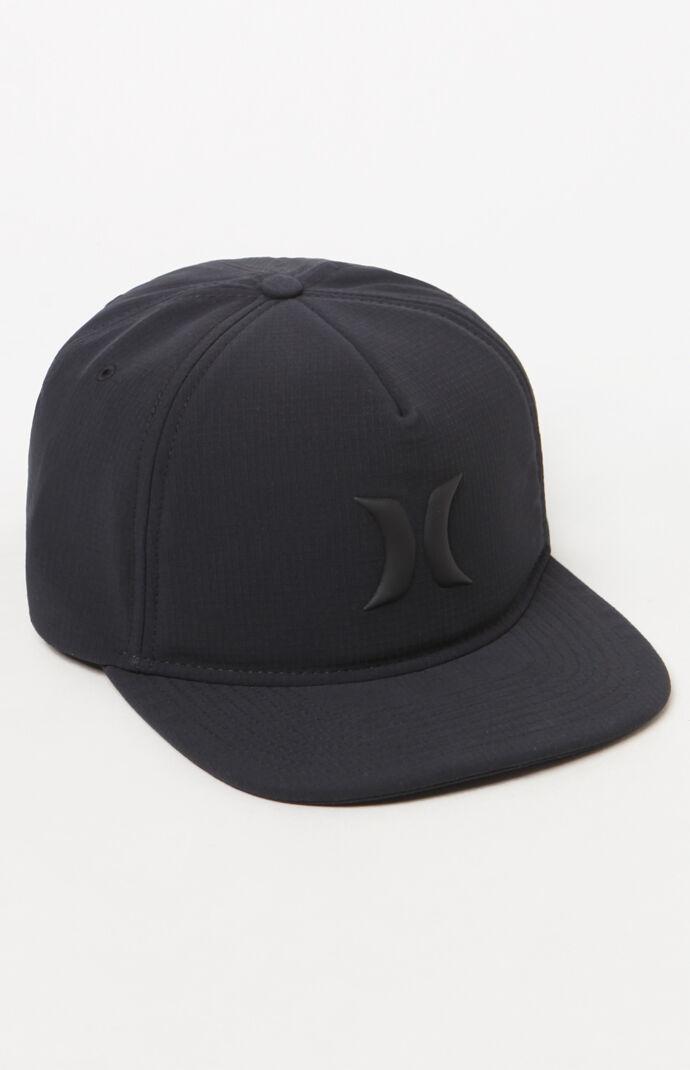 Hurley Mens Icon Hybrid Strapback Hat - Black 7573744