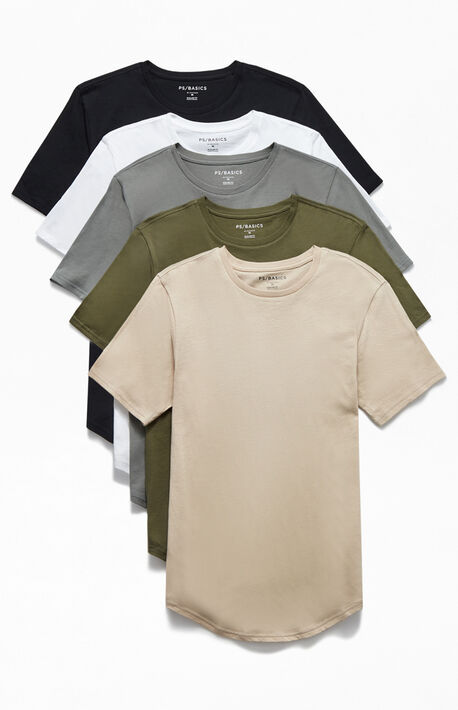 Warden Five-Pack Scallop T-Shirts