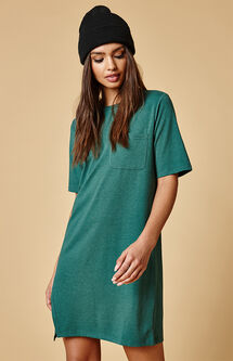 Split Front T-Shirt Dress