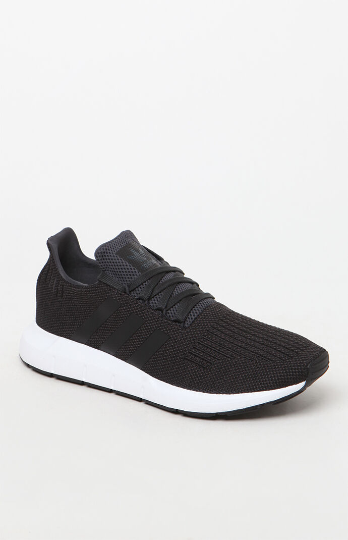 adidas Swift Run Black and White Shoes at PacSun.com 028018959