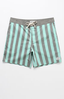 "Vertical Striped 17"" Boardshorts"