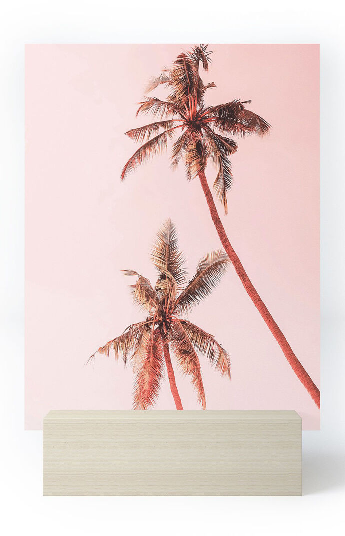 Sunset Palm Trees Mini Art Print