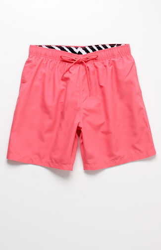 "Solid Volley Coral 16"" Swim Trunks"
