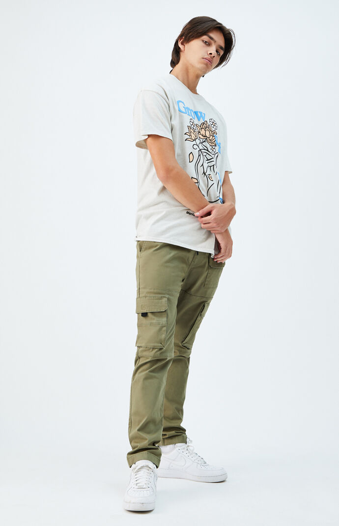 Utility Green Slim Cargo Pants