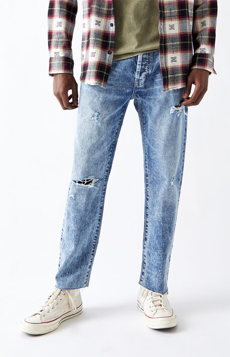 Light Ripped Vintage Loose Jeans