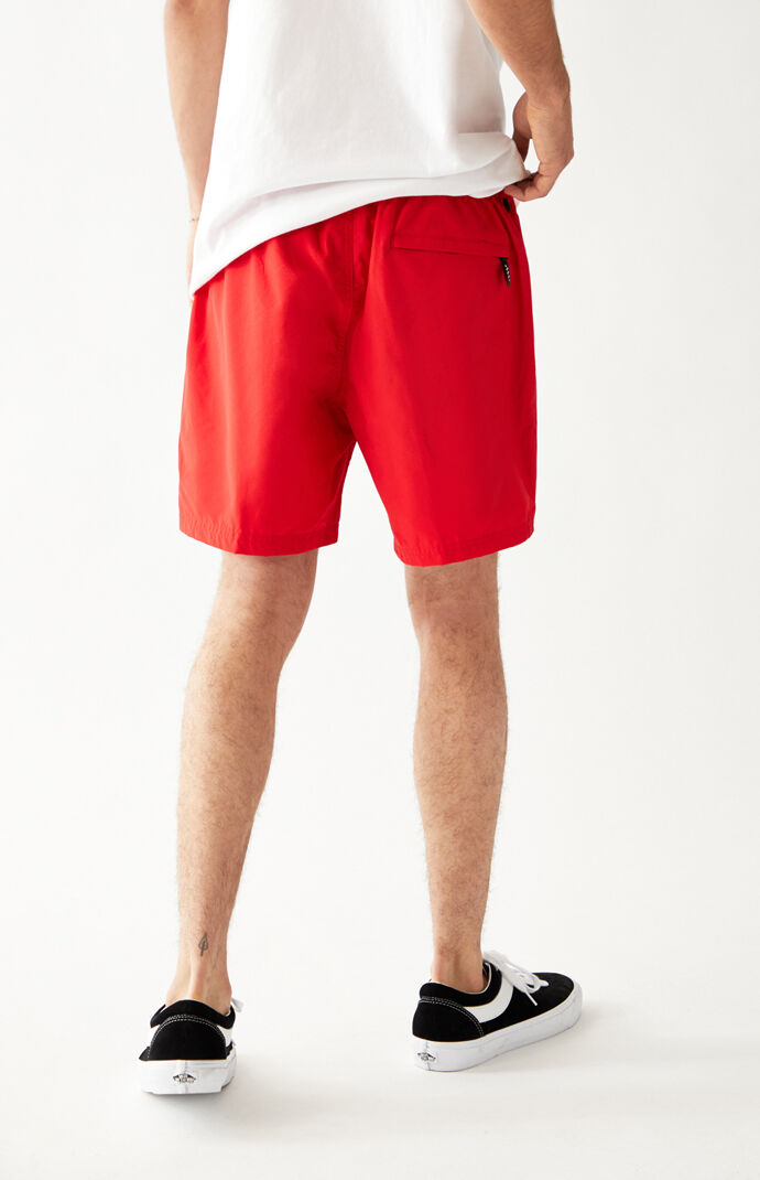 Red Primary Volley Shorts