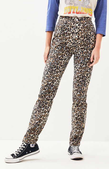 Animal Print Super Stoned Skinny Jeans