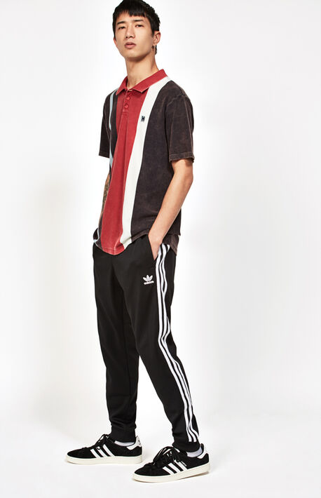 Black Superstar Track Pants