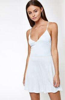 Cupro Strappy Back Dress