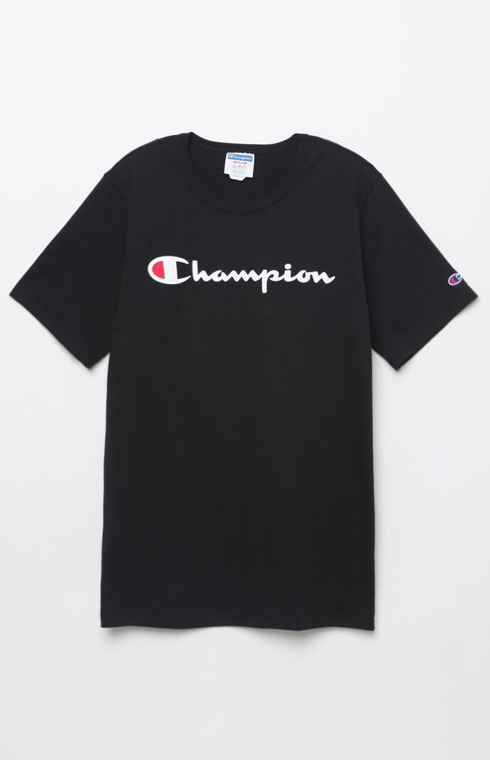 Champion Mens Heritage T-Shirt - Black 5743893