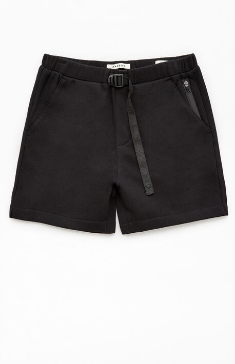 Black Fleece Belted Volley Shorts