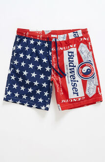 x Budweiser Flag Swim Trunks