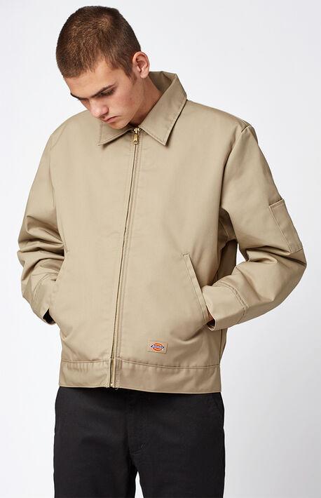Insulated Eisenhower Khaki Work Jacket