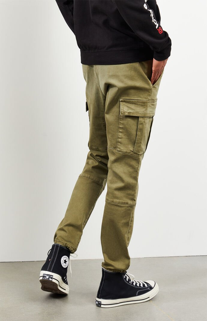 Utility Green Slim Fit Cargo Pants