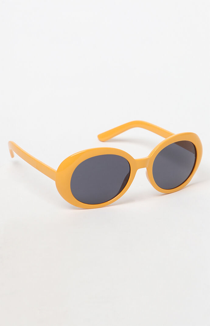 Pac Sun Buggy Yellow Sunglasses by Pacsun