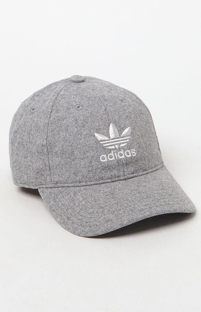 adidas Mens Relaxed Strapback Dad Hat - Heather Grey 6869432