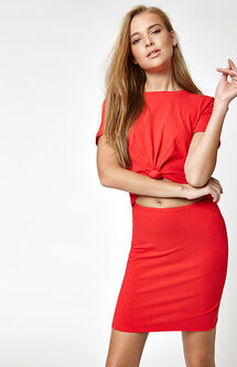 Knot Front Cutout Dress