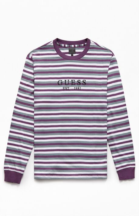 Est. Logo Striped Long Sleeve T-Shirt