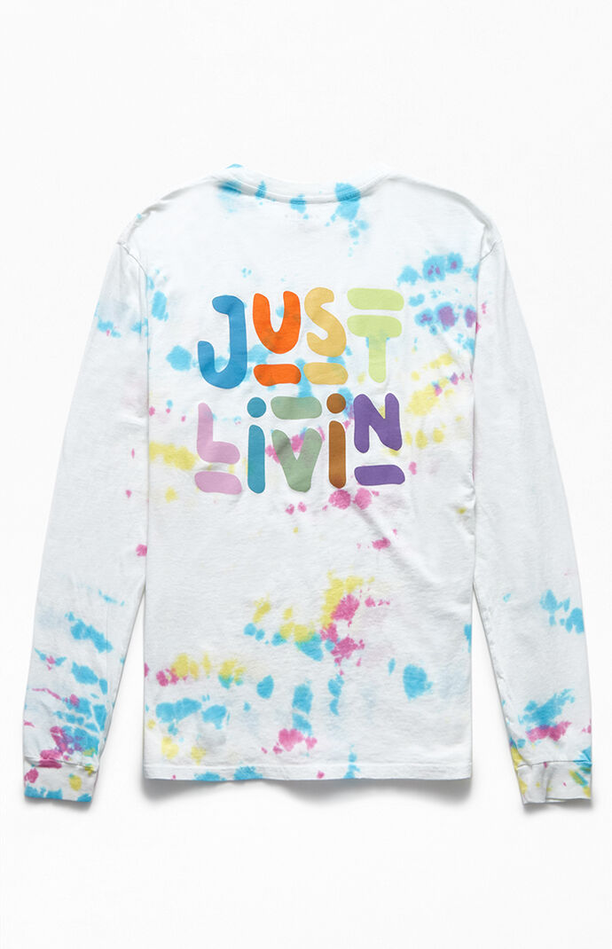 Tie-Dyed Just Livin' Long Sleeve T-Shirt