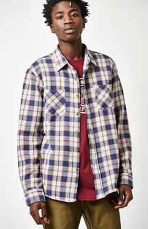Hoffman Plaid Flannel Long Sleeve Button Up Shirt
