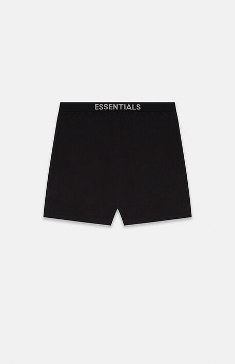 Essentials Black Lounge Shorts