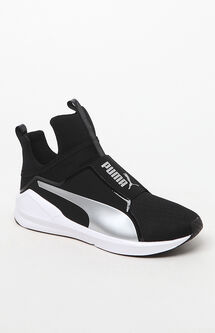 Women's Black & Silver Fierce Core Sneakers