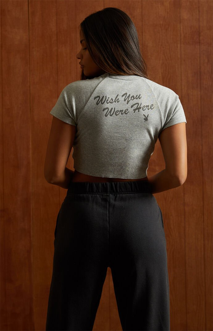By PacSun Wish You Were Here Cropped T-Shirt