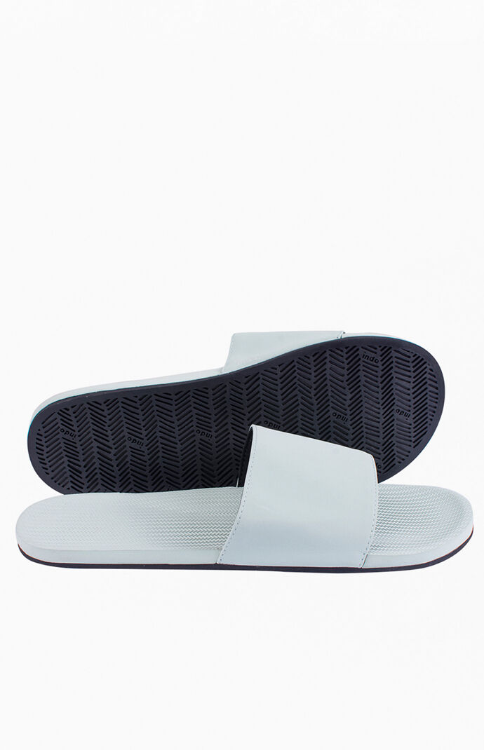 Light Blue ESSNTLS Slide Sandals