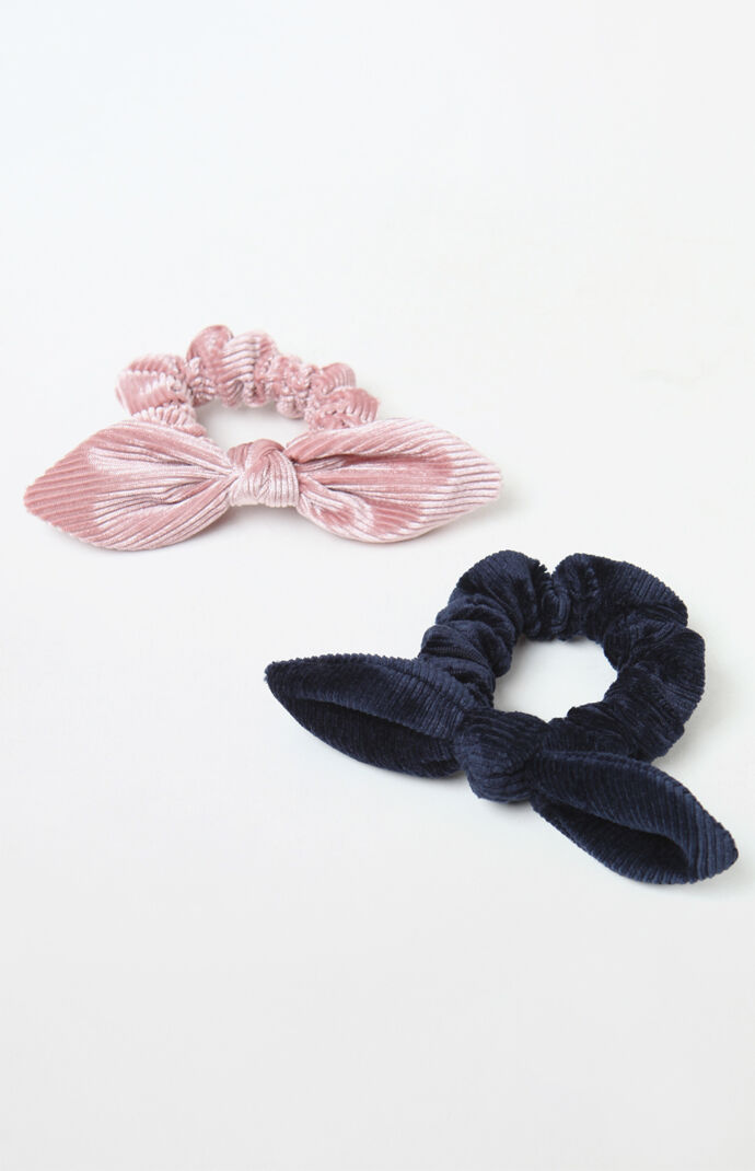 Velvet Bow Scrunchie 2-Pack  5040bc4a188