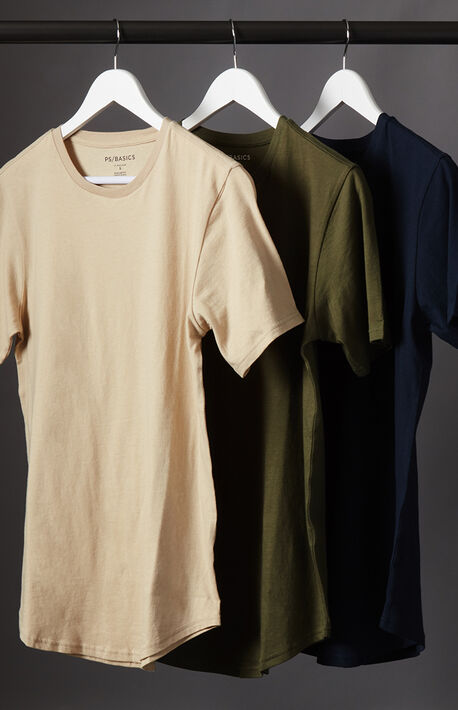 Three Pack Scallop T-Shirts