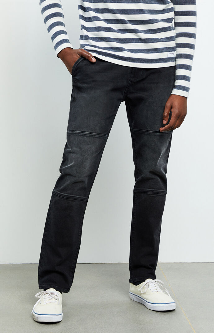 Nathan Black Slim Fit Taper Jeans