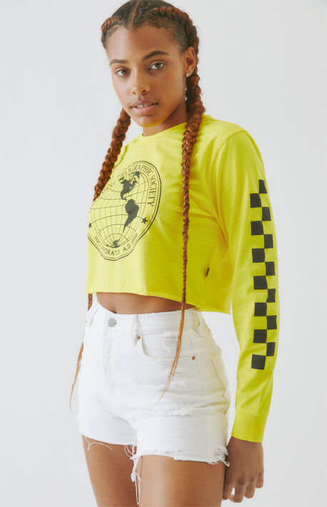 x National Geographic Long Sleeve Crop T-Shirt