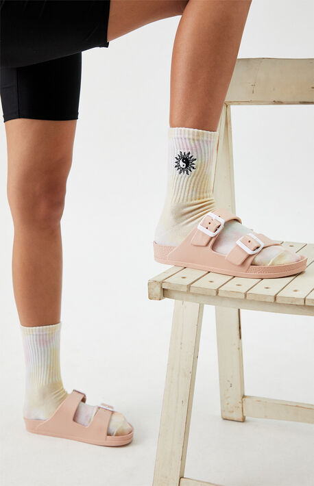 Tie Dyed Yin & Yang Burst Crew Socks