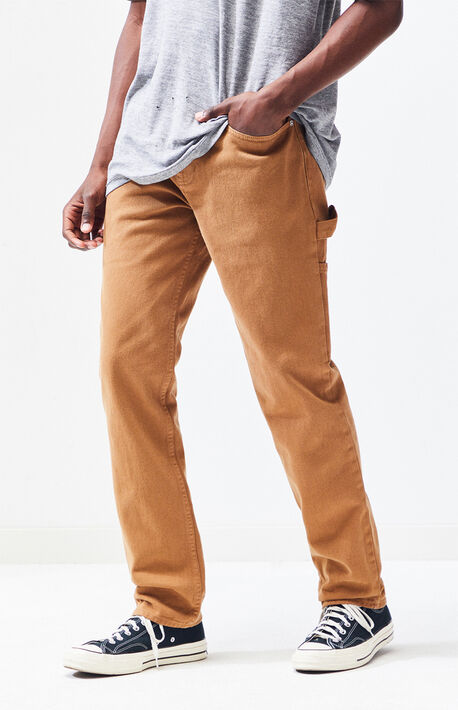 96721690f8b6 Workwear Tan Slim Fit Carpenter Jeans