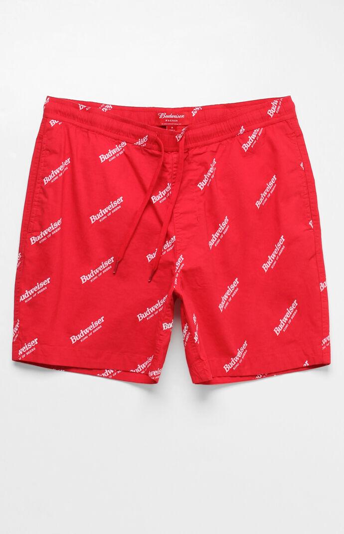 9e01a0defa PacSun x Budweiser Allover Logo Print Red 17
