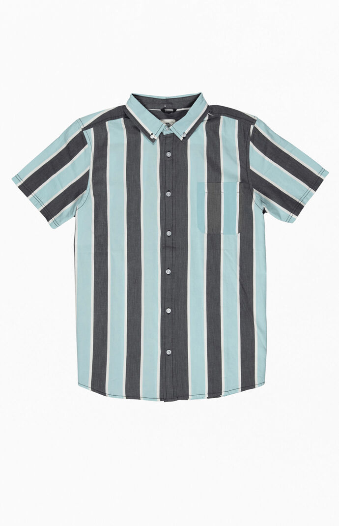 Icon Stripes Short Sleeve Button Up Shirt