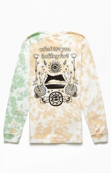 Tie-Dyed Looking For Long Sleeve T-Shirt