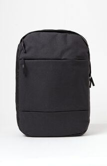 City Compact Black Laptop Backpack