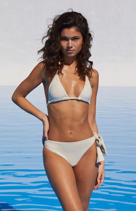 Eco Off White Isobel Triangle Bikini Top