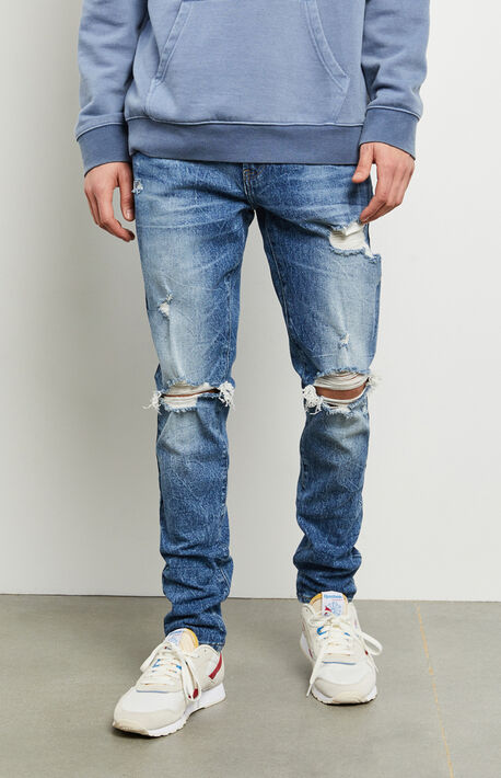 Jaxon Medium Ripped Stacked Skinny Jeans